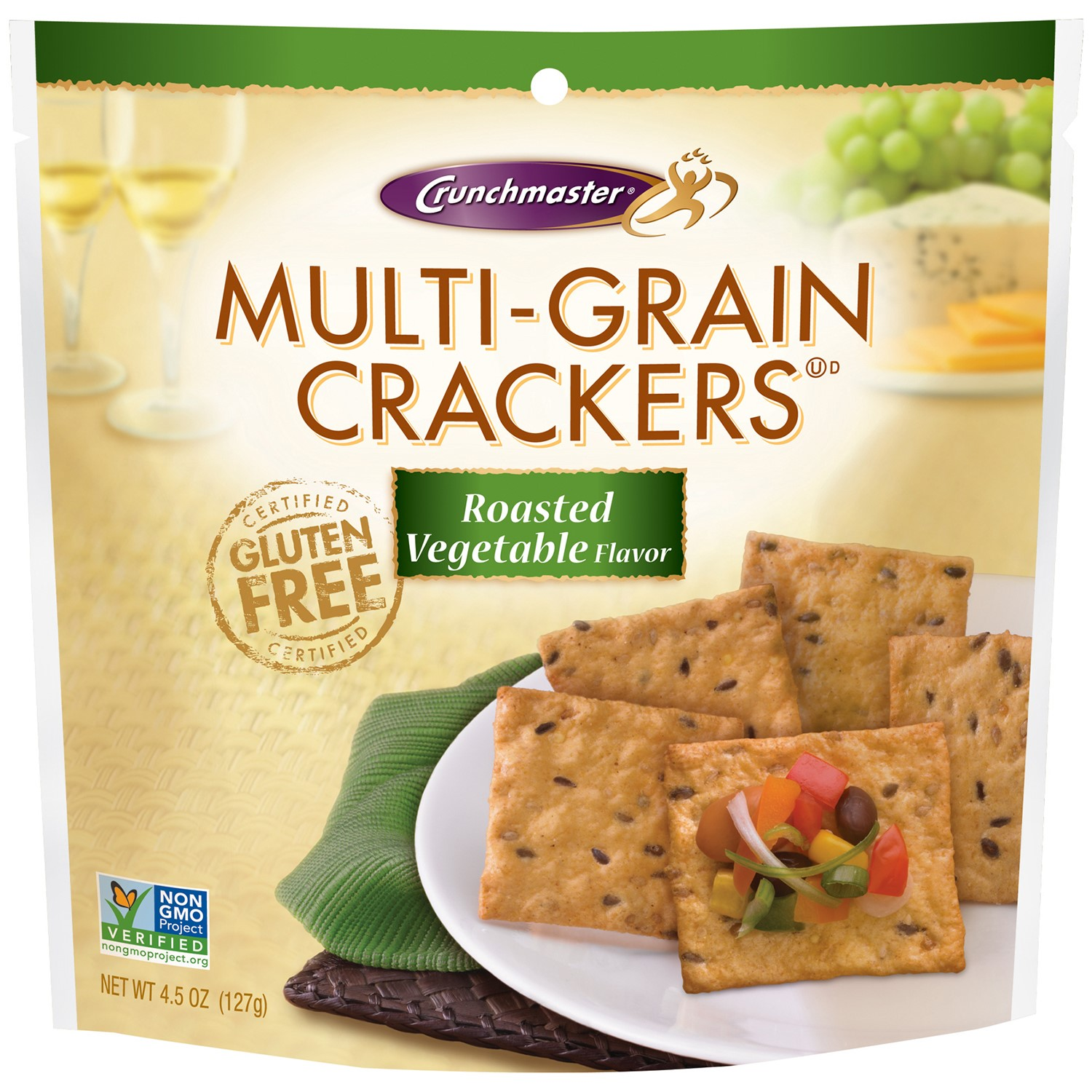 Crunchmaster Multi-Grain Roasted Vegetable Cracke Roasted 4.5 Ounce