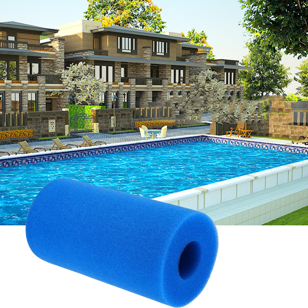 Blue Reusable Swimmings Pools Filters Foam Sponge Replacement For Intex Type A