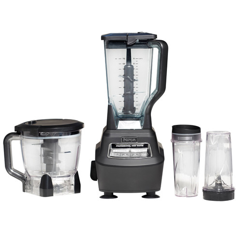 ninja mega kitchen system blender, processor, nutri ninja cups