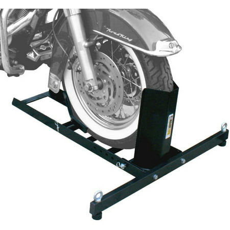 MaxxHaul 70271 Adjustable Motorcycle Wheel Chock Stand Heavy Duty 1800lb Weight