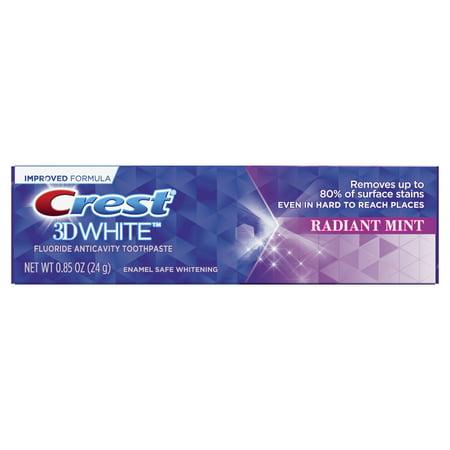 Crest 3D White, Whitening Toothpaste Radiant Mint, .85 oz