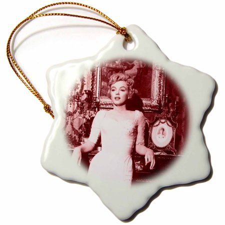 3dRose Sexy image of Marilyn Monroe. Cool photo. - Snowflake Ornament, - Marilyn Monroe Ornaments
