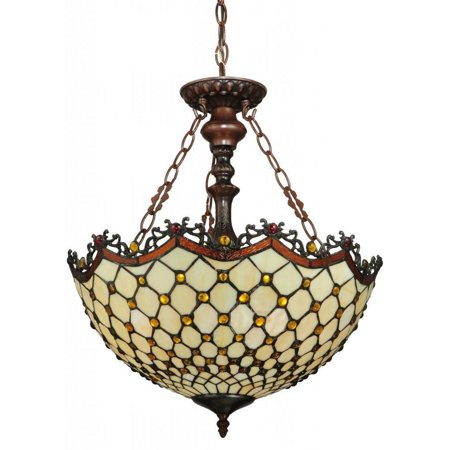 (Meyda Diamond and Jewel 3-light Inverted Pendant)