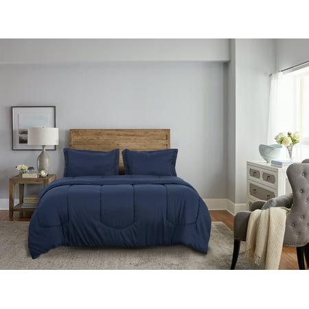 Super Soft Solid Bedding Comforter Set with Matching Shams