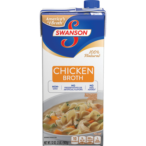Swanson Chicken Broth, 32 oz. Carton