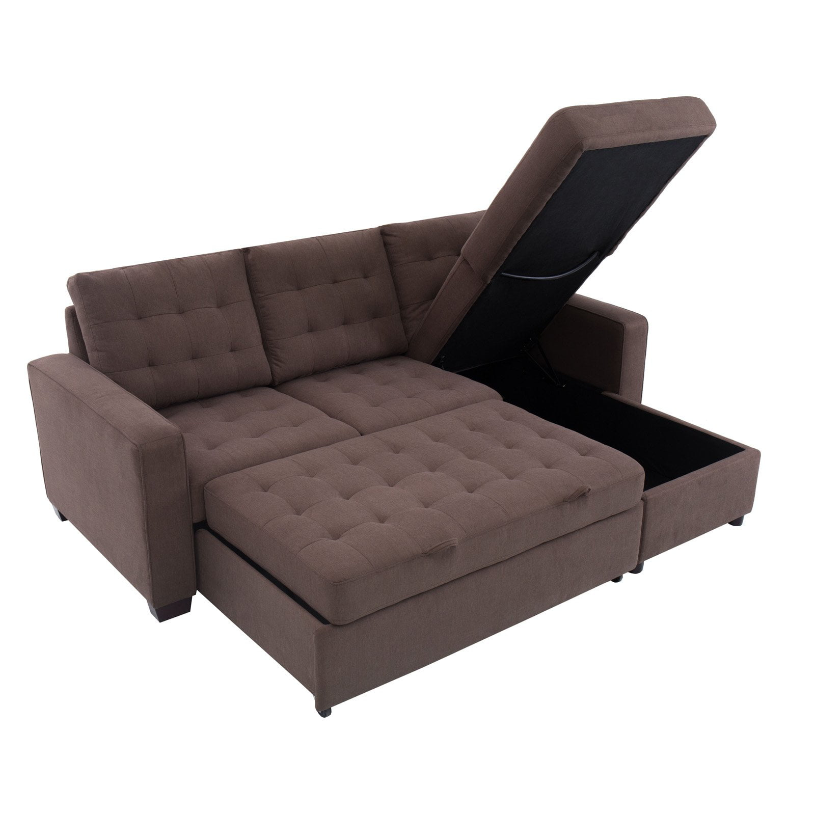 Bostal Serta Sofa Bed Convertible Converts Into A Chaise And Storage Under The