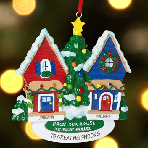 Personalized Neighbor Christmas Ornament