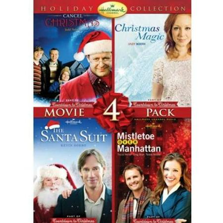 Hallmark Holiday Collection 2  Cancel Christmas   Christmas Magic   Mistletoe Over Manhattan   The Santa Suit  Walmart Exclusive   Walmart Exclusive