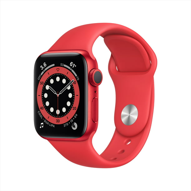 Apple Watch Series 6 GPS, 40mm PRODUCT(RED) Aluminum Case with PRODUCT(RED) Sport Band - Regular