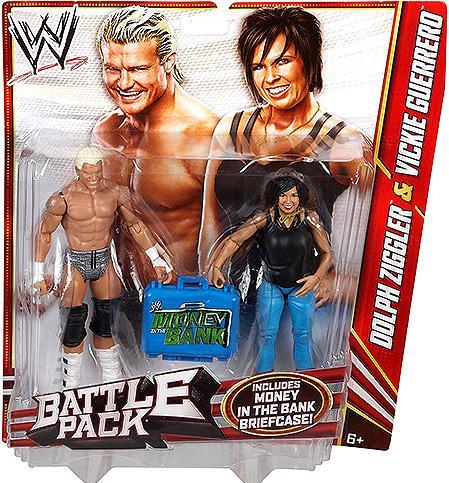 Mattel Dolph Ziggler & Vickie Guerrero Action Figure 2-Pa...