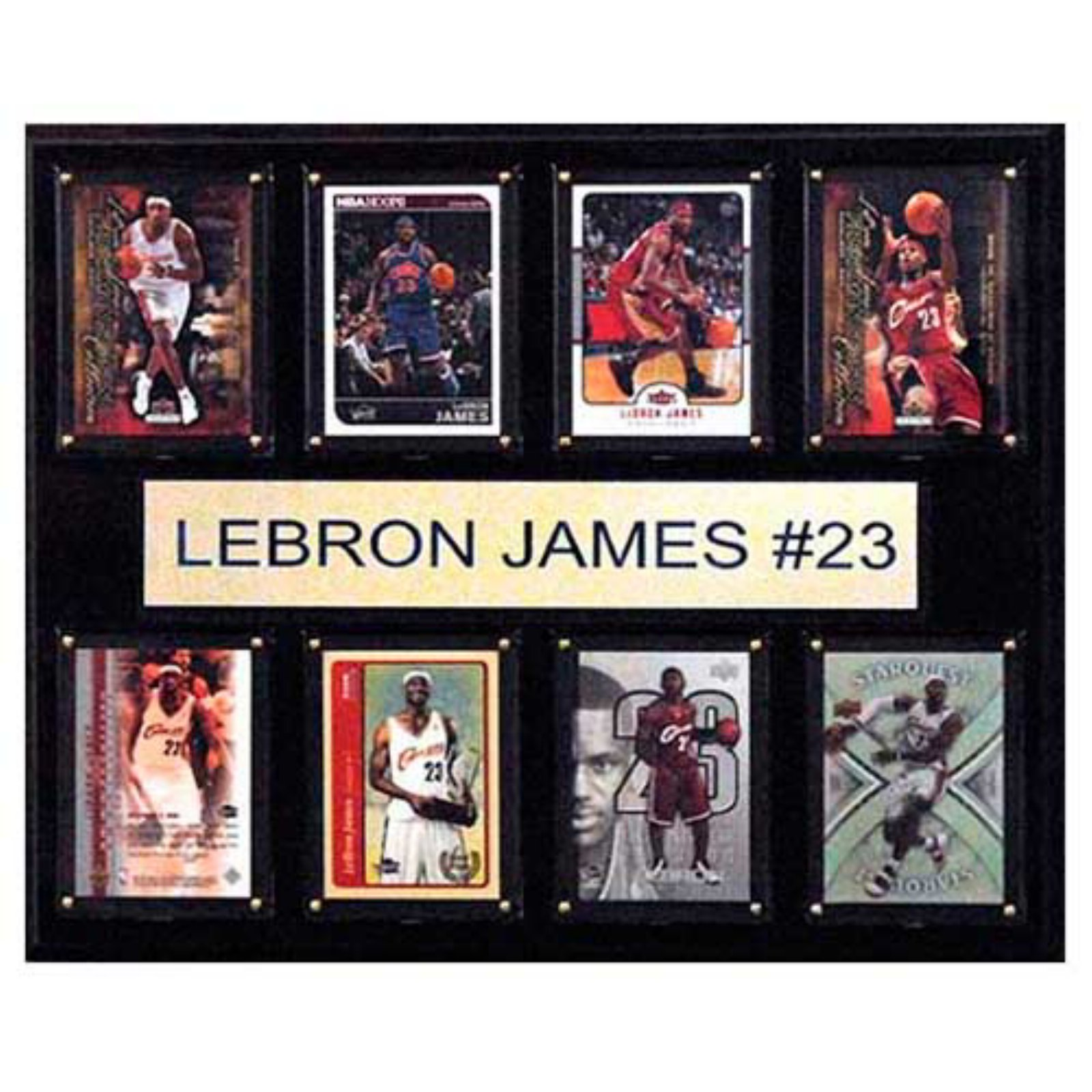 C and I Collectables NBA 15W x 12H in. LeBron James Cleveland Cavaliers 8 Card Plaque