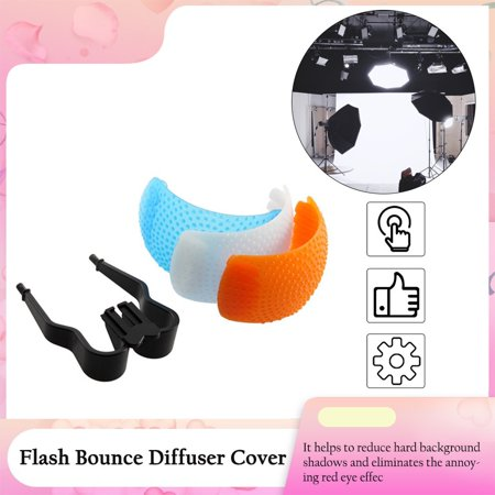3 Color Good Qualtity Pop-Up Flash Diffuser Cover for Canon for Nikon - image 6 of 6
