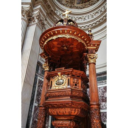 Canvas Print Church Podium Podium Platform Christianity Worship Stretched Canvas 10 x - Multi Podium Cart