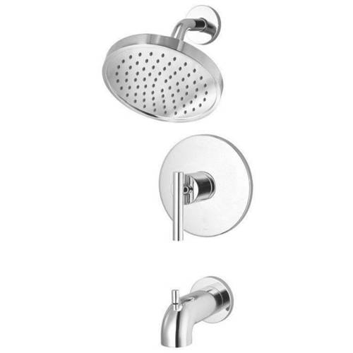 Pfister Contempra Tub and Shower Trim Kit with Single Function 2.0 GPM Rain Shower Head and Tub Spout,... by Price-Pfister