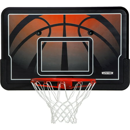 Lifetime Basketball Backboard and Rim Combo (44-Inch Impact),