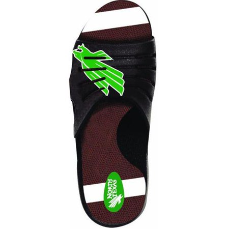 North Texas Football - Jukz Sports NT-FB01-LL North Texas Mean Green Football Unisex Sports Slides, 2L