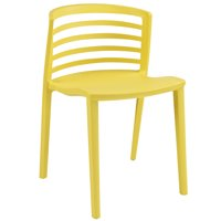 Modern Contemporary Kitchen Dining Side Chair Yellow (Outdoor and Indoor)