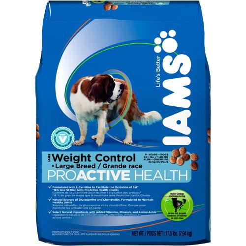 Iams ProActive Health Dry Dog Food - Large Breed Weight Control Formula, 17.5lb Bag