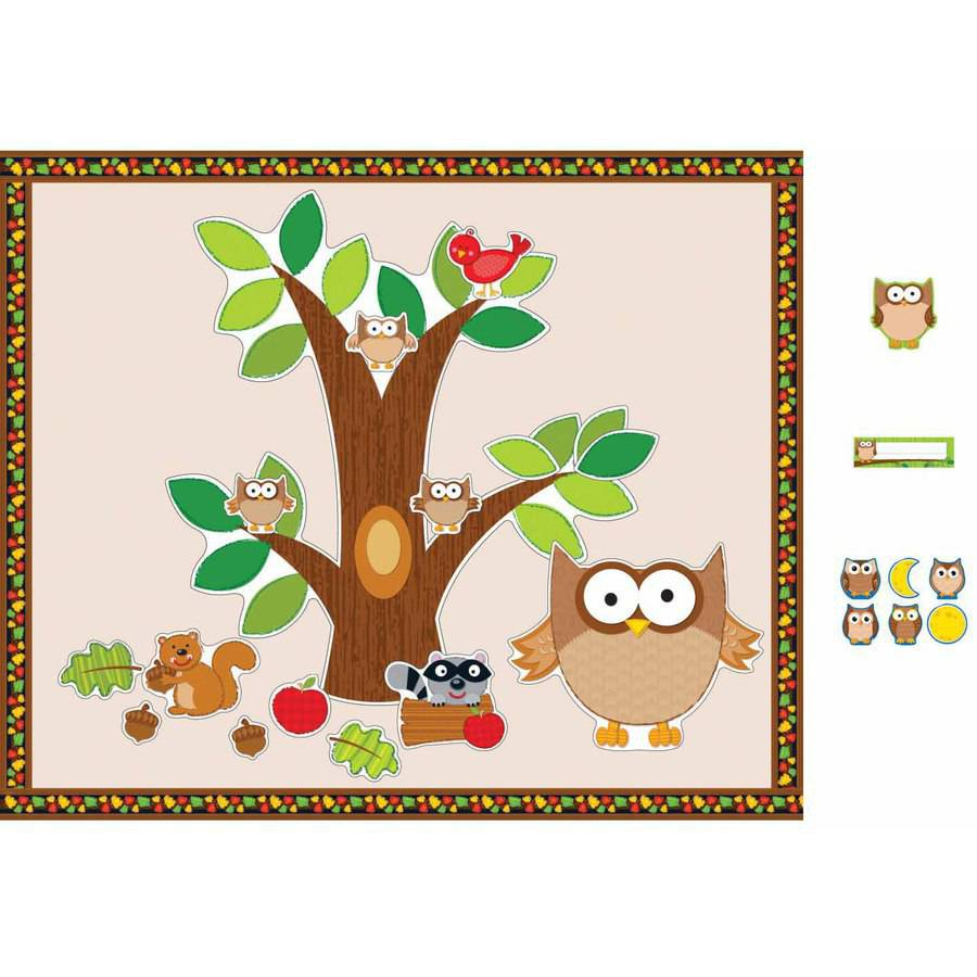 Carson-Dellosa Owls Design Bulletin Board Essentials Set
