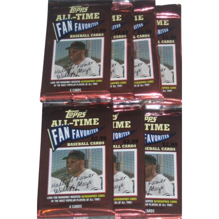 Mlb Topps All Time Fan Favorites Baseball Trading Card Pack Lot 7 Packs