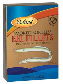 Eel Fillets, Smoked Boneless (Roland) 3.66oz (104g) by