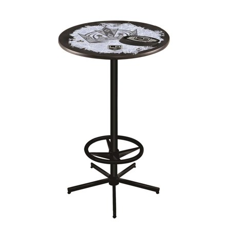 Los Angeles Kings 42 Inch High, 28 Inch Top Black L216 Pub Table