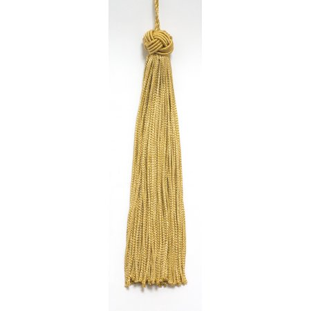 Set of 10 Gold Woven Head Chainette Tassel, 5.5 Inch Long with 1 Inch Loop, Basic Trim Collection Style# BH055 Color: Medium Gold - B7