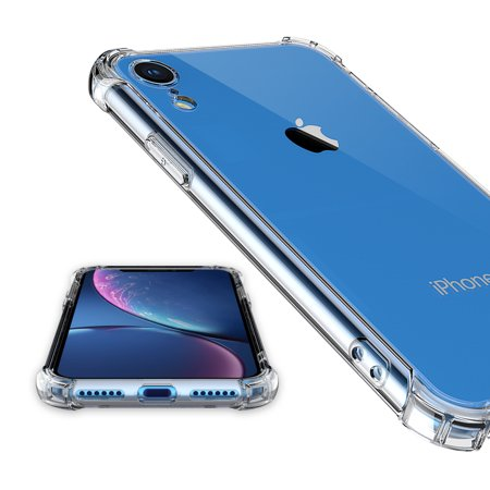 iPhone XR Crystal Clear Transparent TPU Bumpers and Hard Acrylic Back ShockProof (Crystal Clear Bumper)