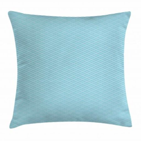 Vintage Blue Throw Pillow Cushion Cover, Classical Argyle Pattern Striped Checkered Traditional Old Fashioned, Decorative Square Accent Pillow Case, 16 X 16 Inches, Baby Blue and White, by Ambesonne