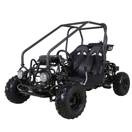 - Black Taotao GK110 110CC Youth Go Kart, Air Cooled, 4-Stroke, 1-Cylinder, Automatic with Reverse