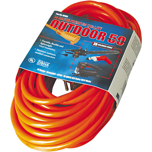 CCI Vinyl Indoor-Outdoor Extension Cord, 50ft, Red
