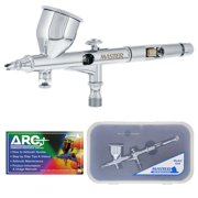 Pro .2 Micro Precision Dual-Action Gravity Airbrush Set Kit MAC Auto Paint Hobby