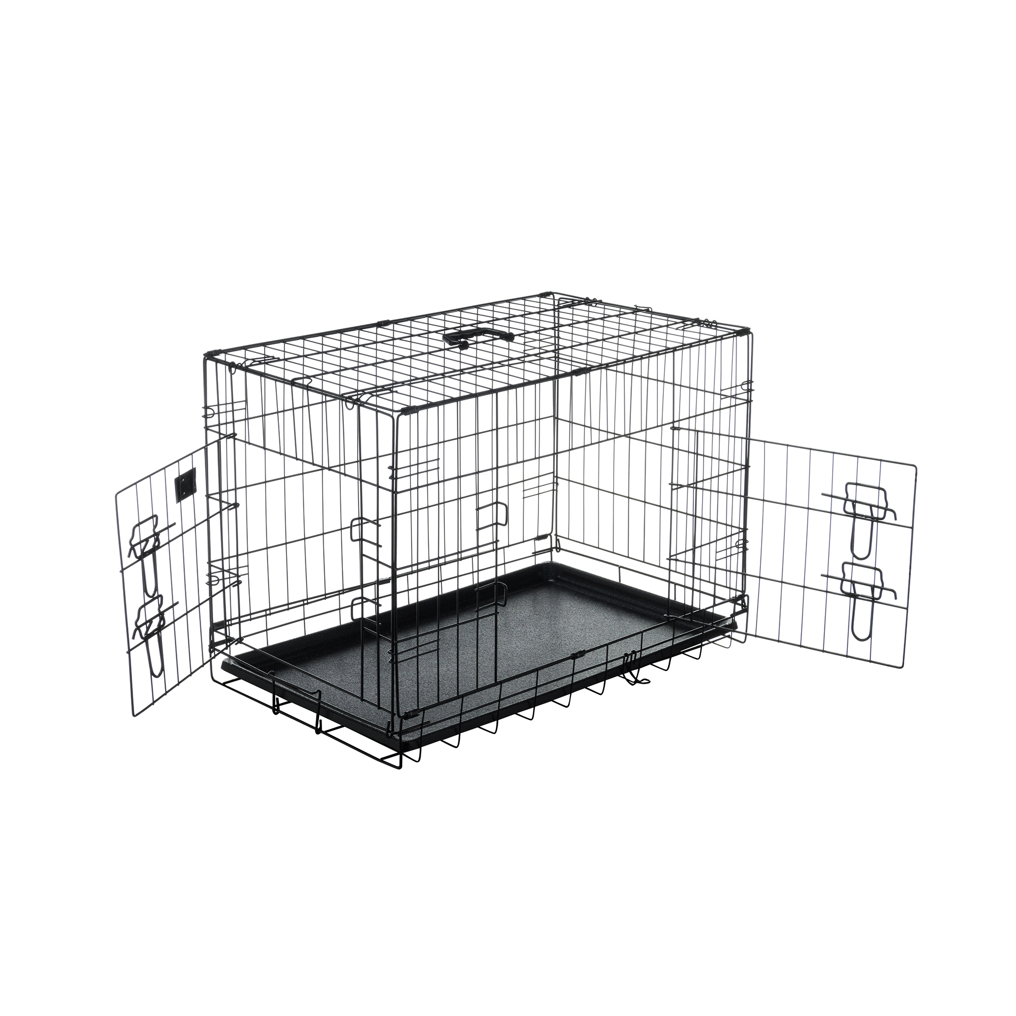 "Pet Trex 30 Inch Folding Pet Crate, 2 Door Animal Kennel, 30"" Dogs, Rabbits"