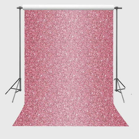 GreenDecor Polyster Background 5x7ft Millennium Pink Shinny Spots Photography Backdrop Glitter Children Baby Photo Props](Glitter Chevron Background)