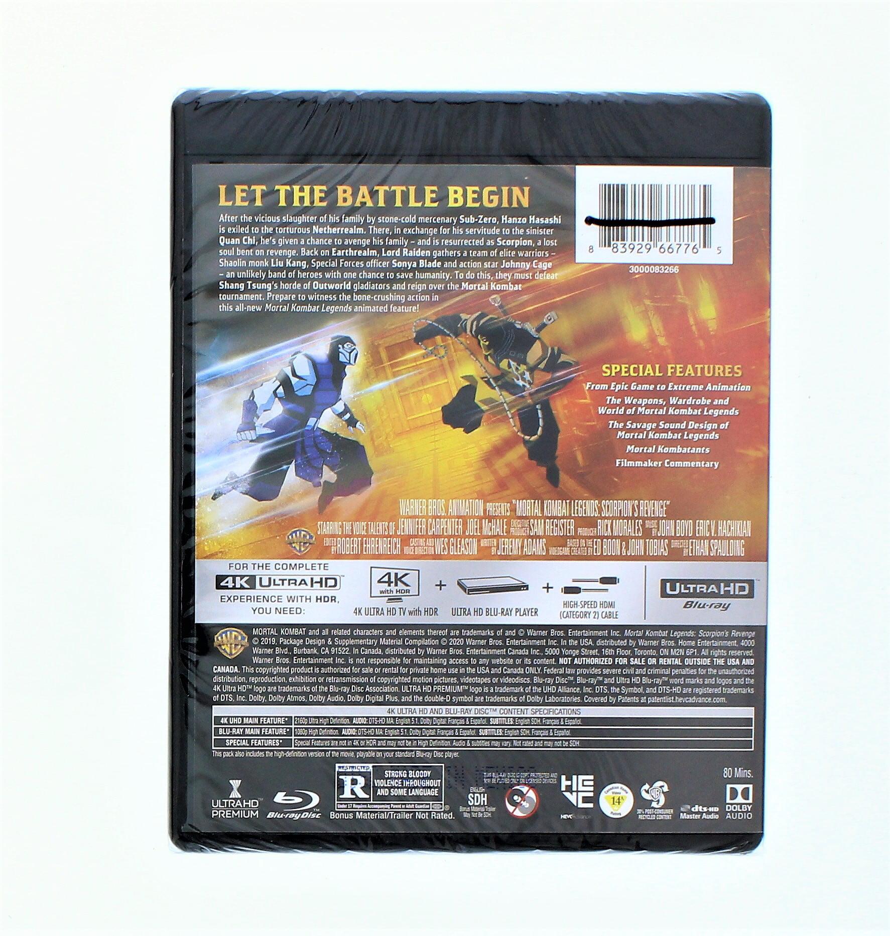 Mortal Kombat Legends Scorpion S Revenge 4k Ultra Hd Blu Ray