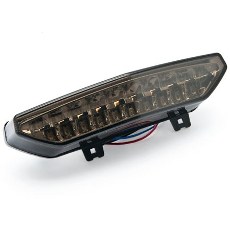Smoke LED Tail Light Integrated with Turn Signals For 2011 Kawasaki Concours 14 / ZG1400 / ABS - image 2 de 4