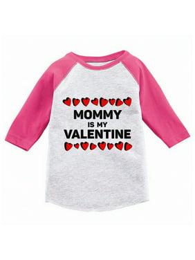 Awkward Styles Mommy Is My Valentine Toddler Raglan Boys Valentine Shirt Valentines Tshirt for Boys Valentine's Day Jersey Shirt Cute Gifts for Boys Mom Raglan Shirt for Toddler Boys Mama's Boy Shirt