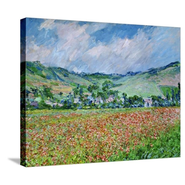 A Field Of Poppies Scenic Gallery Wrapped Canvas Print Wall Art By Claude Monet Walmart Com Walmart Com
