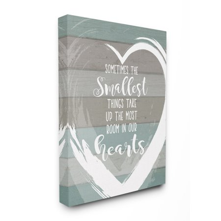 The Stupell Home Decor Collection Smallest Things Most Room In Heart Planked Oversized Stretched Canvas Wall Art, 24 x 1.5 x 30 24 X 30 Giclee Canvas