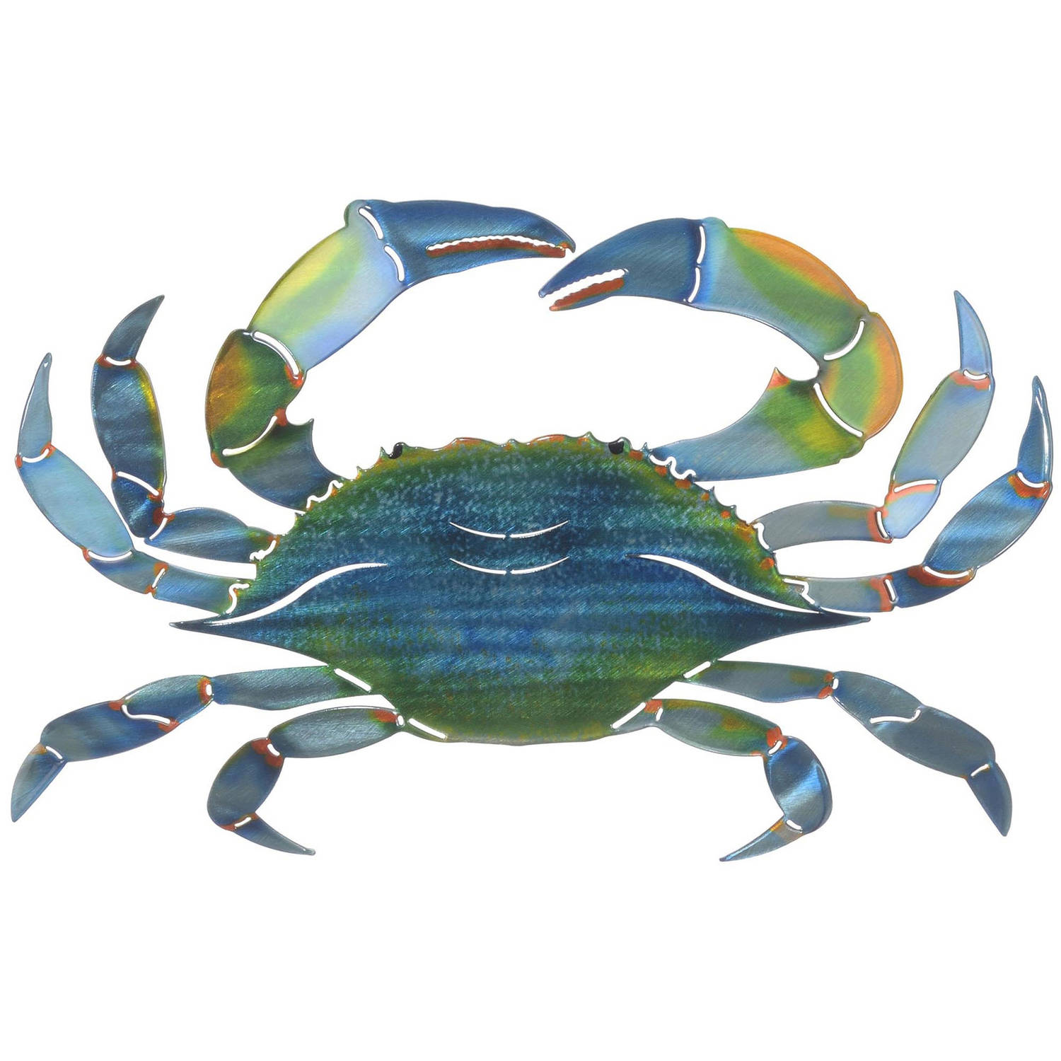 3D East Blue Crab Metal Wall Art By Next Innovations