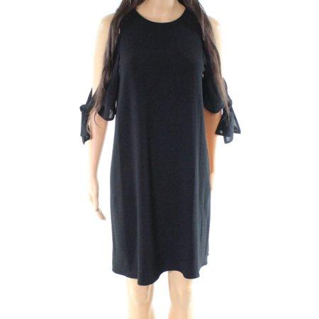 5bb2ed94c4 Charles Henry - Charles Henry NEW Black Womens XS Tie Sleeve Off Shoulder  Shift Dress - Walmart.com