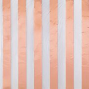 Striped Paper Luncheon Napkins, 6.5 in, Foil Rose Gold, 16ct