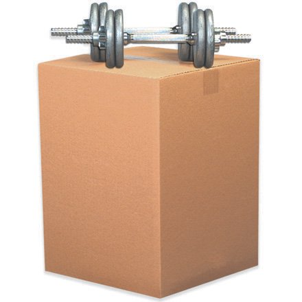 HD241812DW Kraft 24 Inch x 18 Inch x 12 Inch Double Wall Corrugated Cardboard Shipping Box Made In USA BUNDLE OF (Corrugated Cardboard Coin)