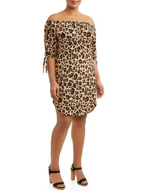 e1ba7e05bd9 Product Image Juniors  Plus Size Off-The-Shoulder Shirttail Dress
