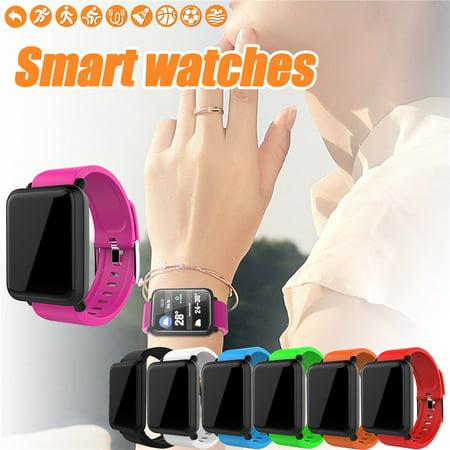 Smart Bracelet Heart Rate Fitness Tracker Smart Bracelet Wristband Watch Sleep Monitor Life Waterproof Long Standby Intelligent Blood Oxygen Monitoring Bracelet Call Remind Monitoring Sleep, Red