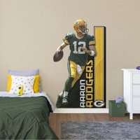 Fathead Aaron Rodgers: Growth Chart - Life-Size NFL Removable Wall Decal