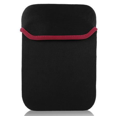 "14"" 14.1"" Red Trim Black Soft Neoprene Notebook Laptop Sleeve Bag Case - image 1 of 1"
