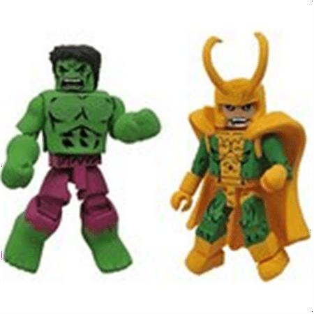 Diamond Select Toys Marvel Minimates Best of Series 2: Hulk and Loki,