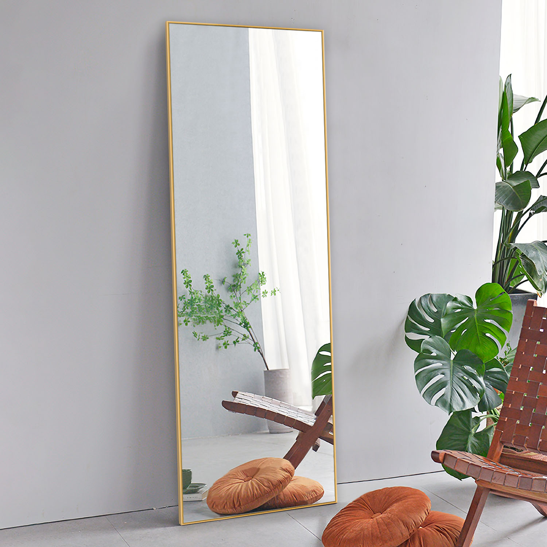Full Length Mirror Decor Wall Mounted Mirror Floor Mirror Dressing Mirror Make Up Mirror For Bathroom Bedroom Living Room Dining Room Entry Gold 59 X 20 Walmart Com Walmart Com