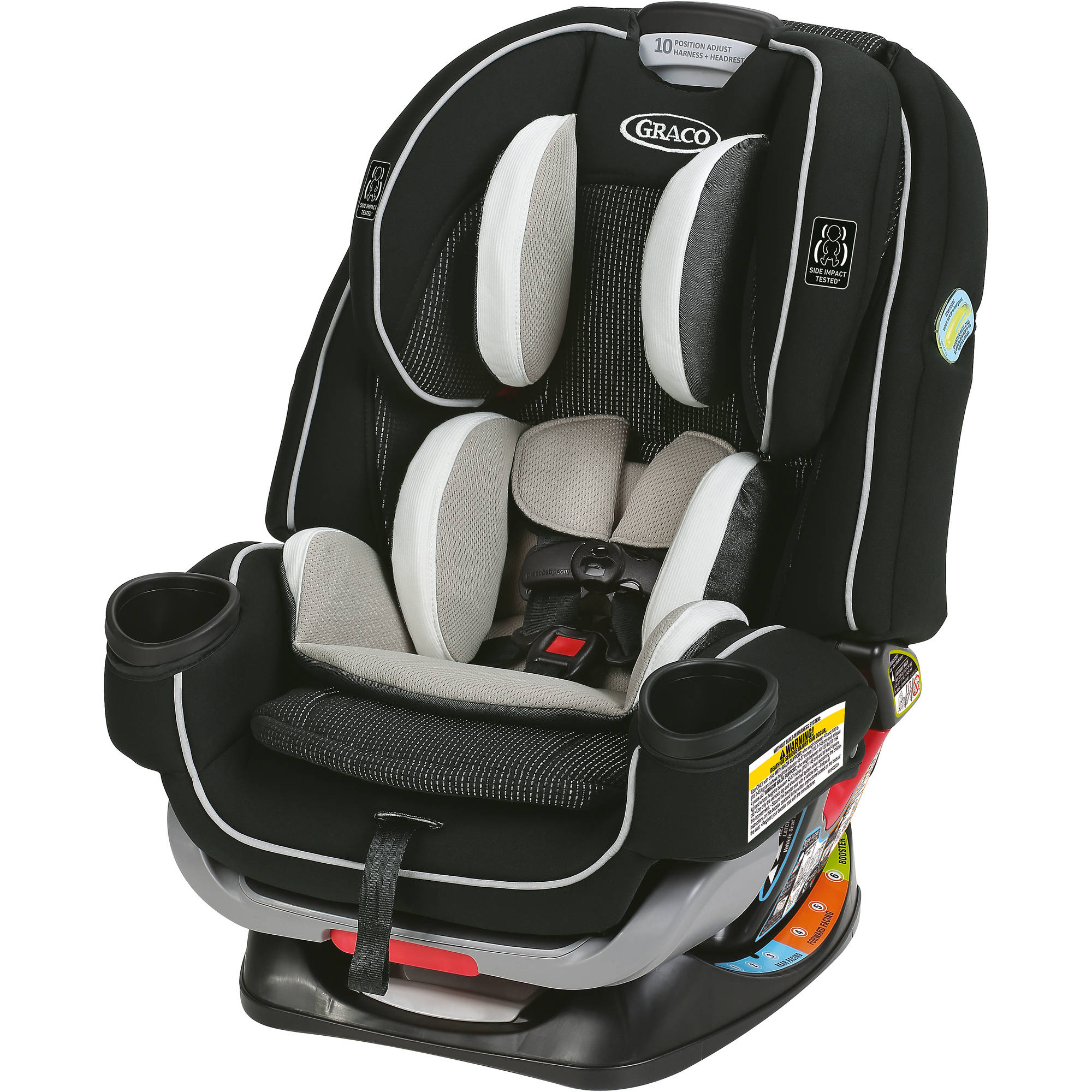 Graco 4Ever Extend2Fit 4-in-1 Convertible Car Seat, Choose Your Color